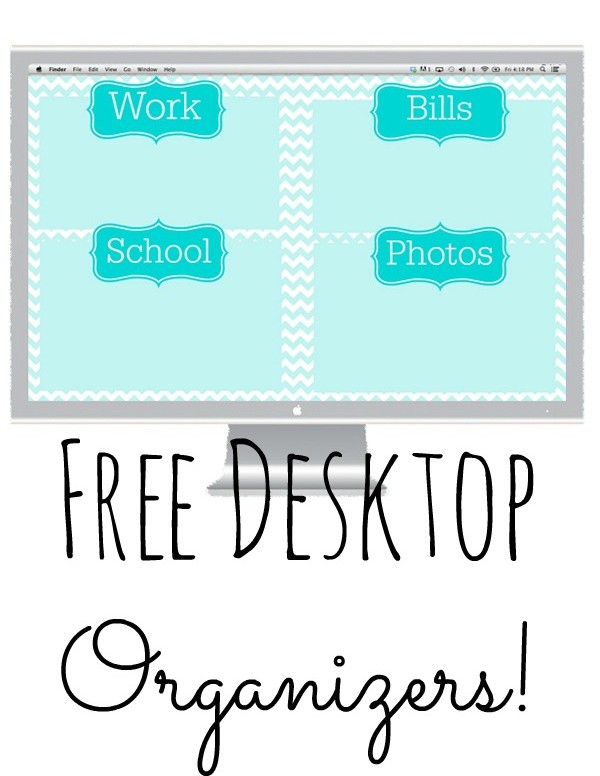Get your computer desktop organized with these free desktop organizers! Completely customizeable to fit your needs!
