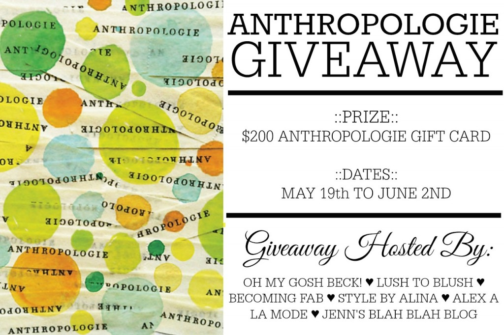 Anthropologie Giveaway Image