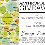 $200 Anthropologie Gift Card Giveaway!