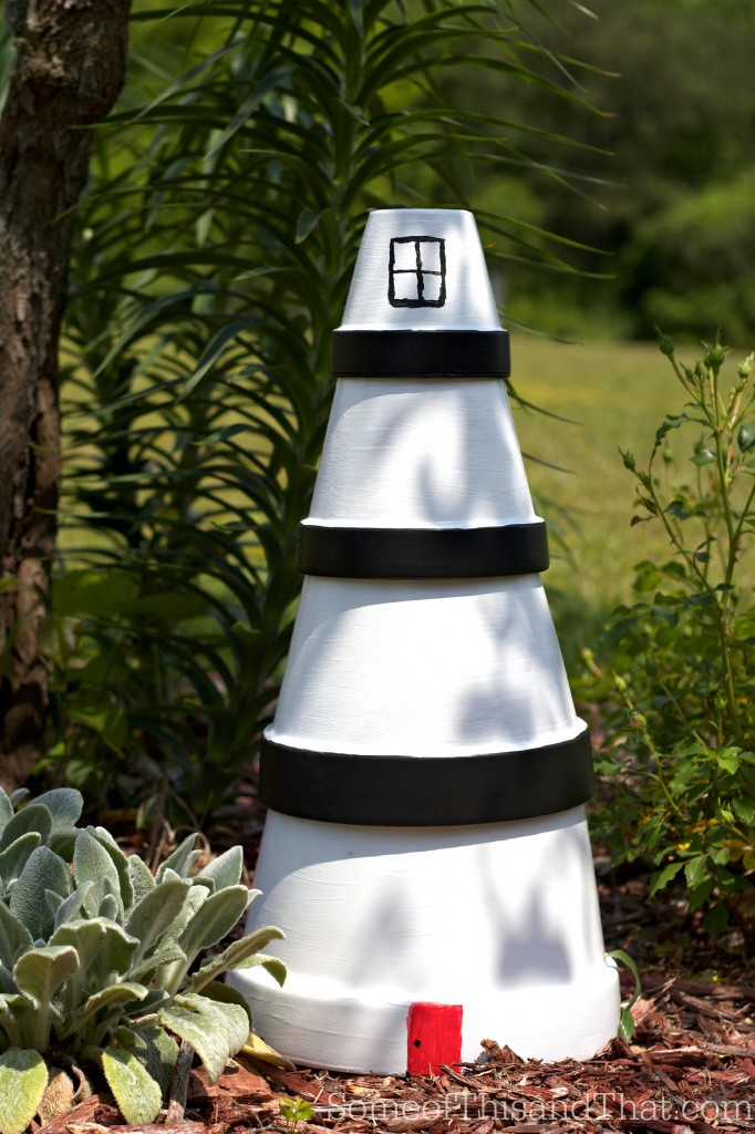 diy lighthouse lawn ornament some of this and that On diy garden ornaments