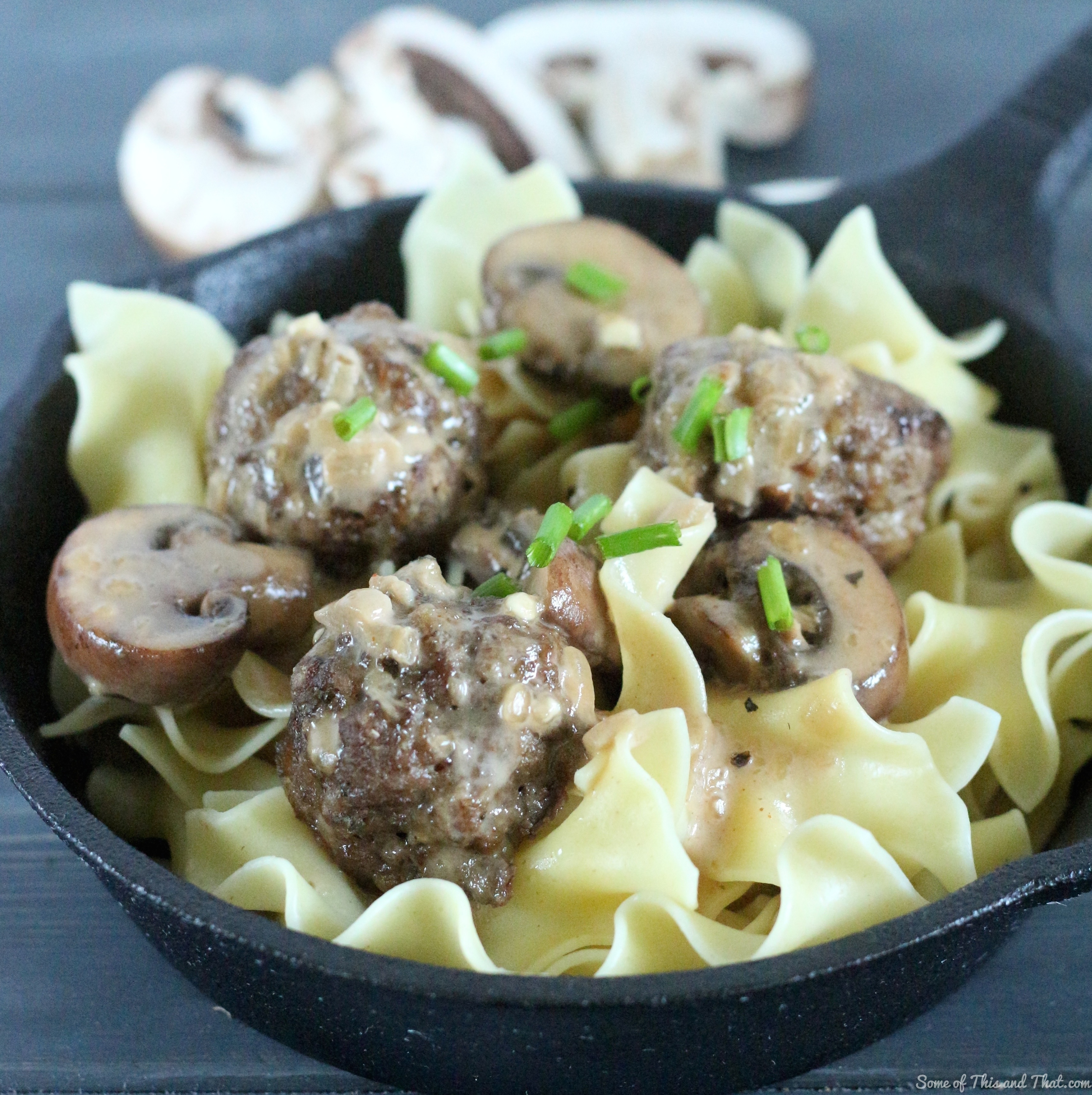 Swedish Meatballs with Mushroom Cream Sauce