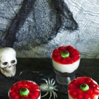 Eyeball Cheesecake! No bake Halloween treat!