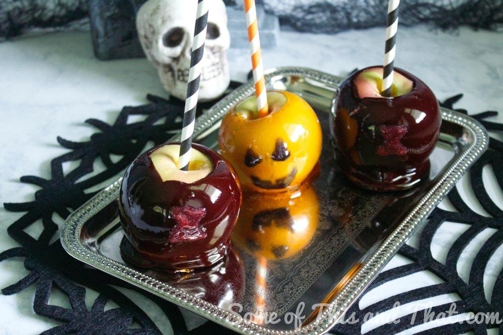 DIY Halloween Candy Apples! Black Widows and Pumpkins!