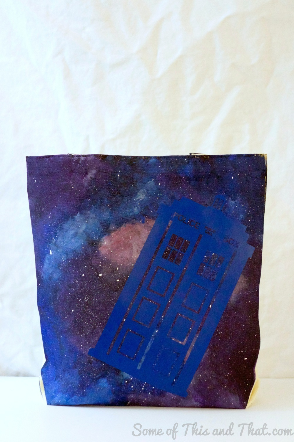 DIY Galaxy Bag! Doctor Who Tardis Bag