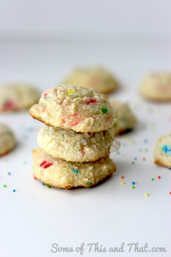 Funfetti Cookies! Only 3 Ingredients!