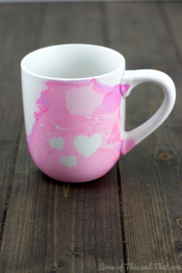 DIY Water Swirl Mugs