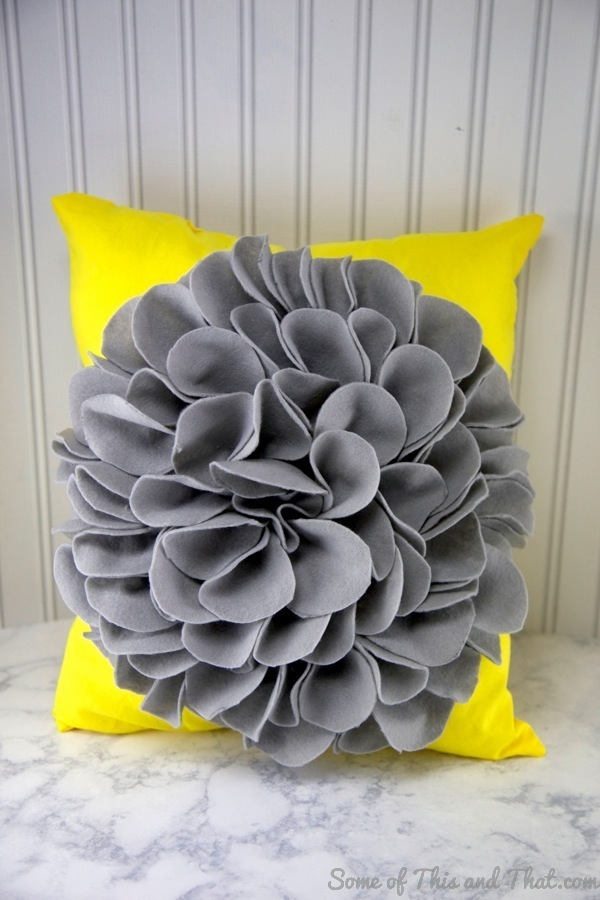 DIY Flower Pillow! Super easy to make and inexpensive as well!