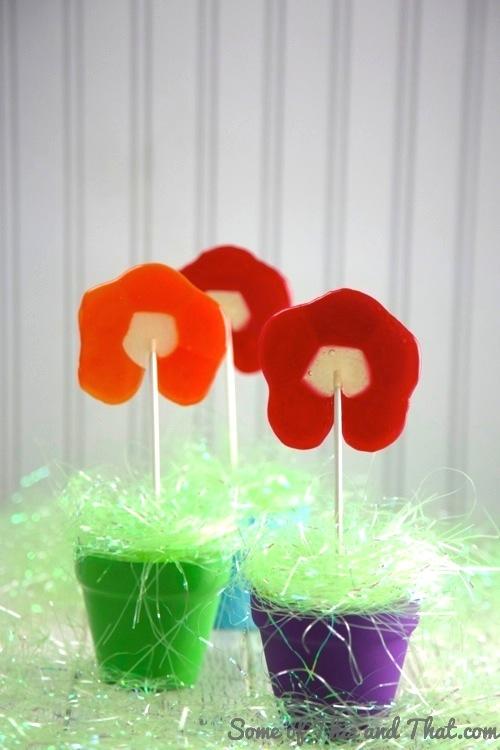 DIY Flower Pops