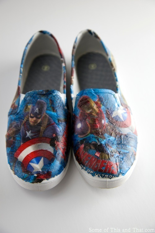 DIY Superhero Shoes