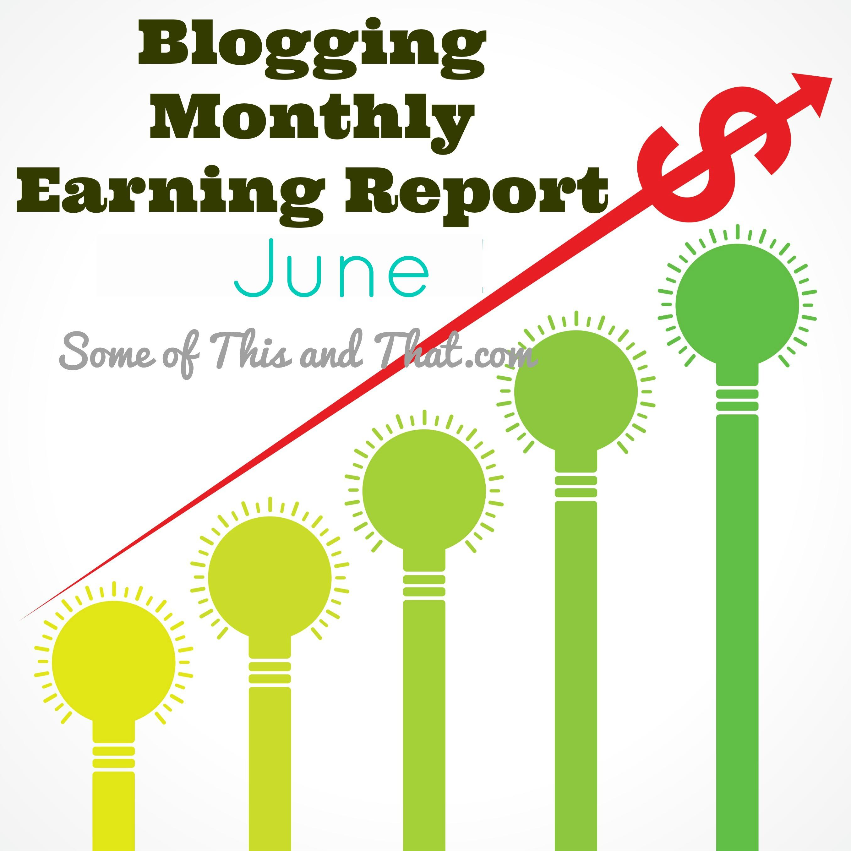 Blog Earnings Report - June