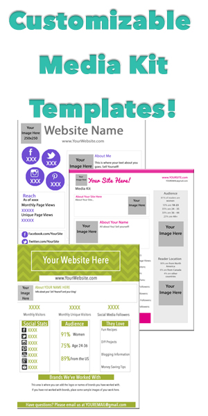 media kit templates sidebar