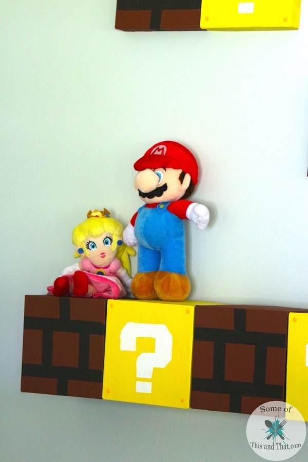 DIY Mario Shelves | Nerdy Crafts!! This is an easy DIY that is perfect for that geek or gamer in your life!