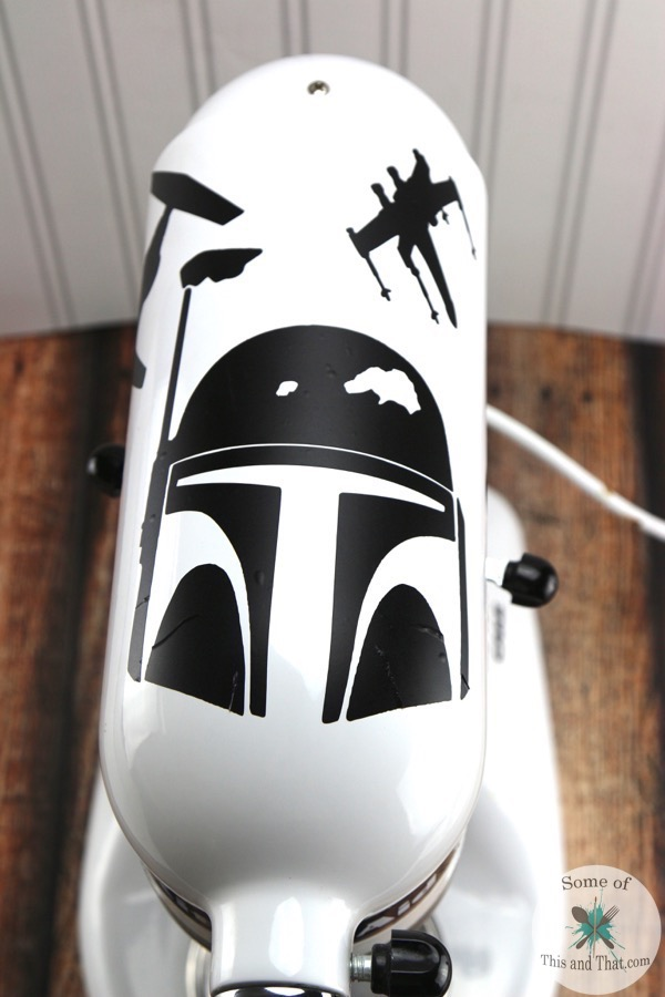Star Wars Themed Kitchen Aid Mixer final top