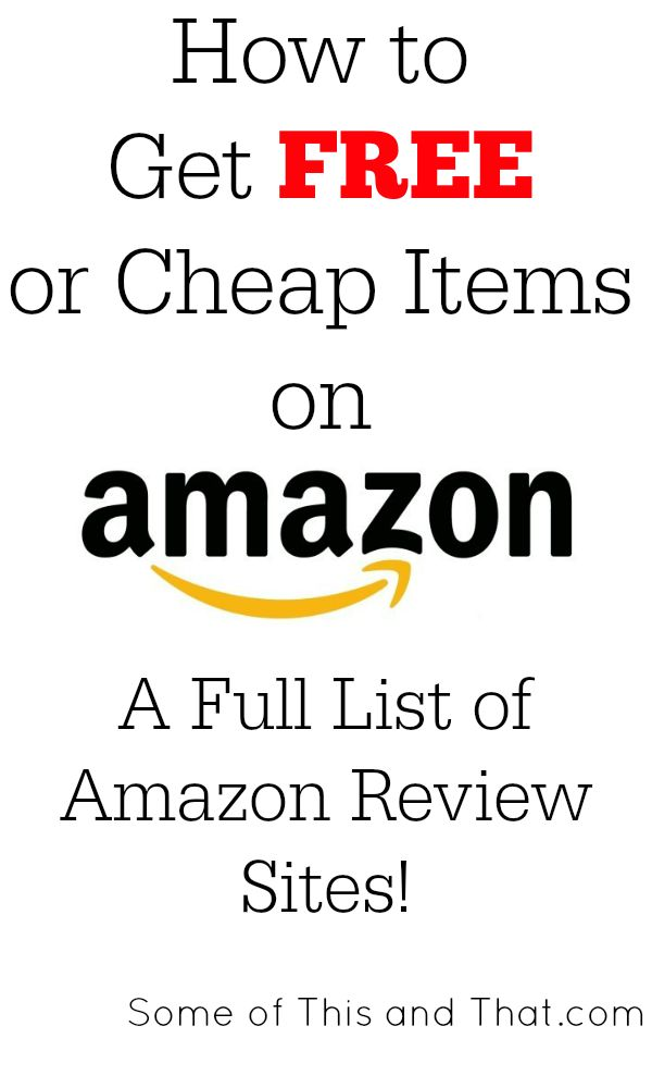 Amazon Review Sites | How to get free and cheap items from Amazon! You do not need to be a blogger to get great items to review for free!