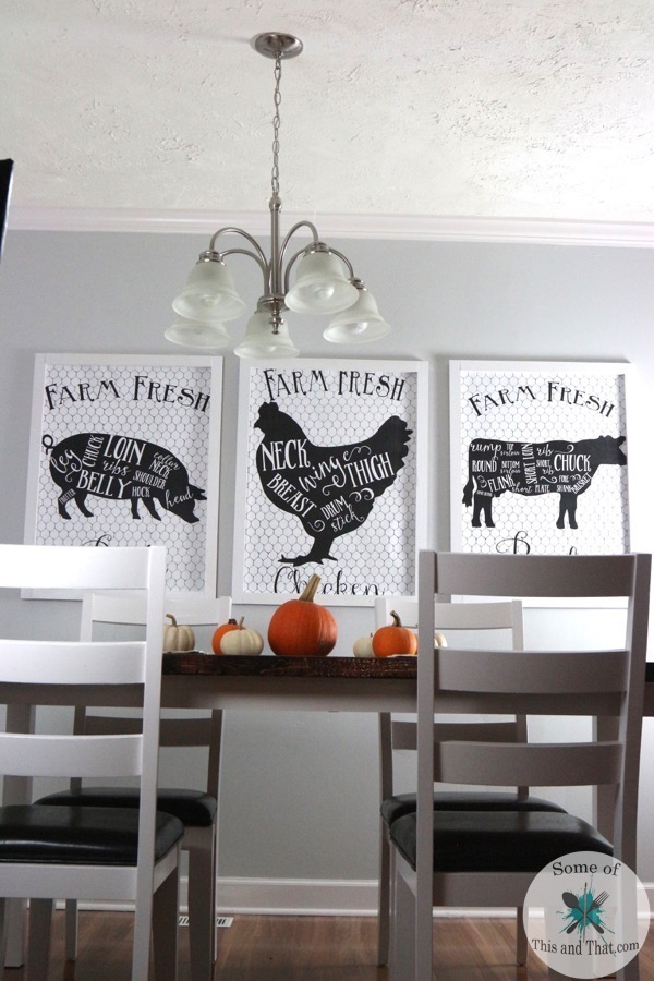 Diy Giant Wall Art On A Budget Some Of This And That