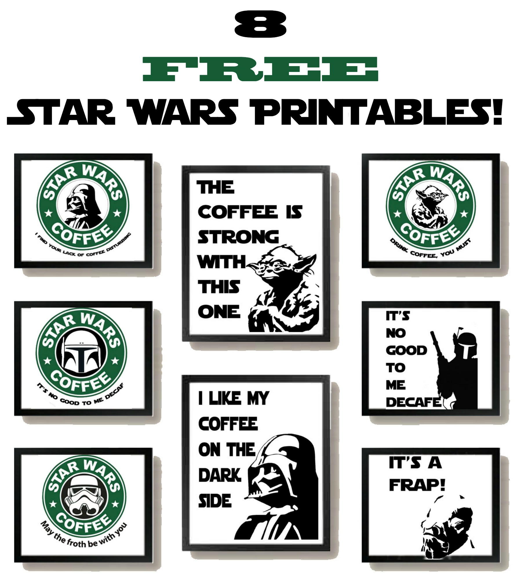 photo regarding Printable Star Wars Images referred to as Free of charge Star Wars Printables with a Espresso Topic! - Some of