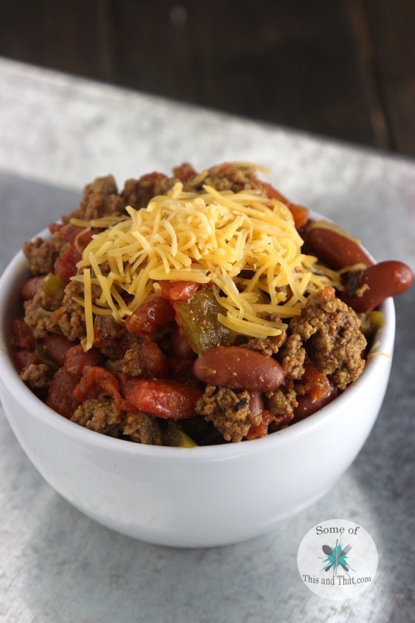 Extra Chunky Chili Recipe!