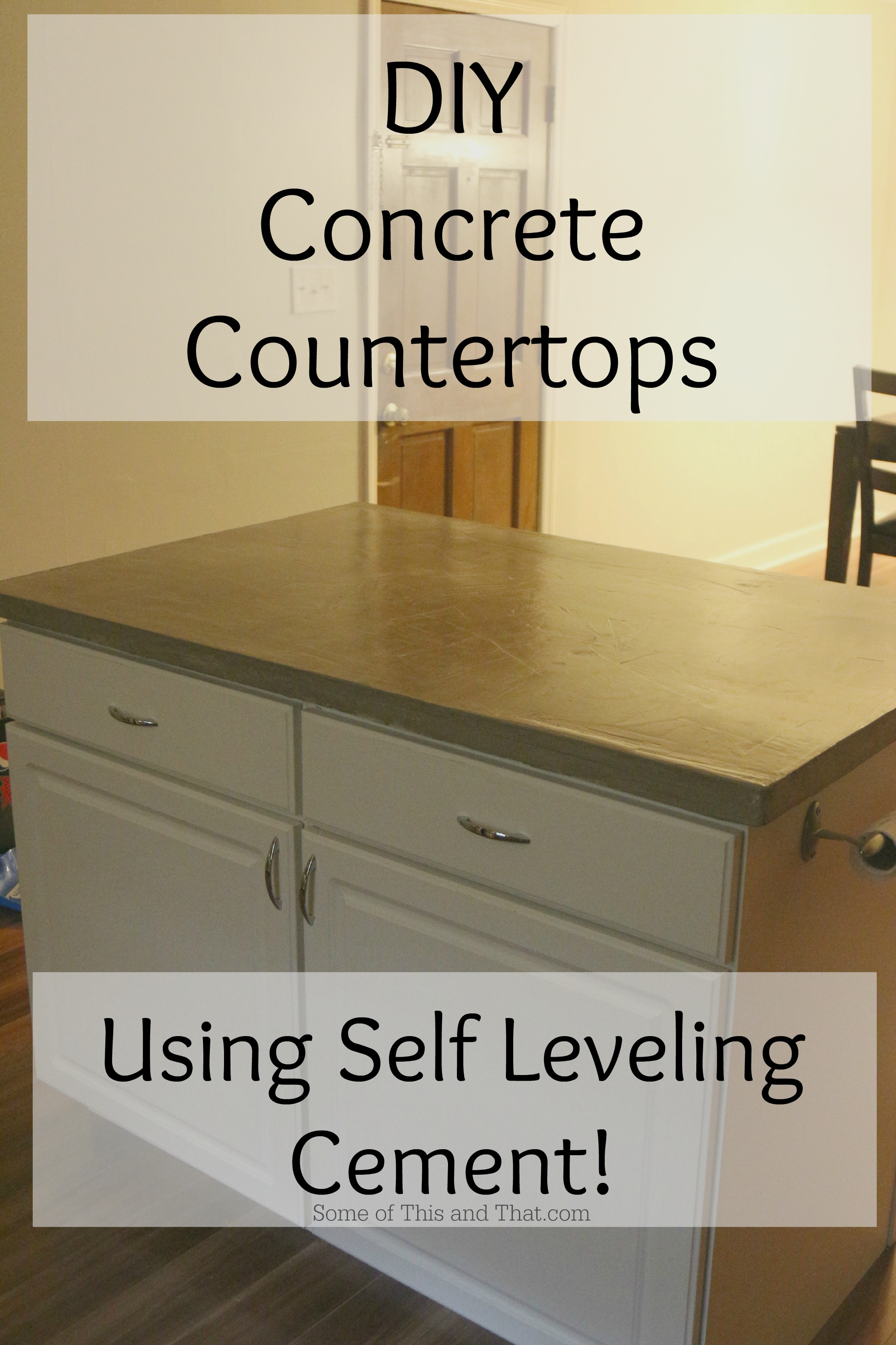 Diy concrete countertops using self leveling cement some of this diy concrete countertops using self leveling cement solutioingenieria