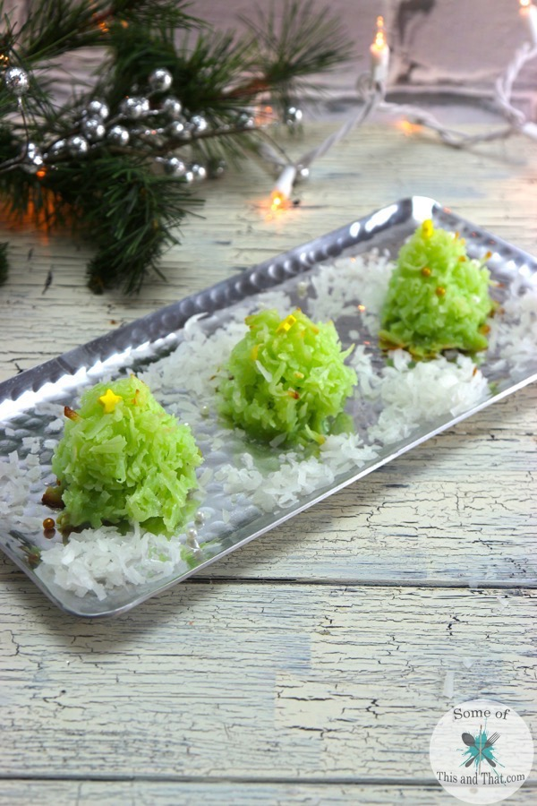 Coconut Macaroon Christmas Tree Cookies