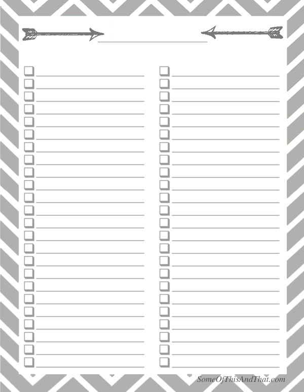 Printable Checklist Free Printable Checklists Best Images About