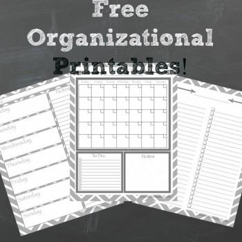 Free Organizational Printables!