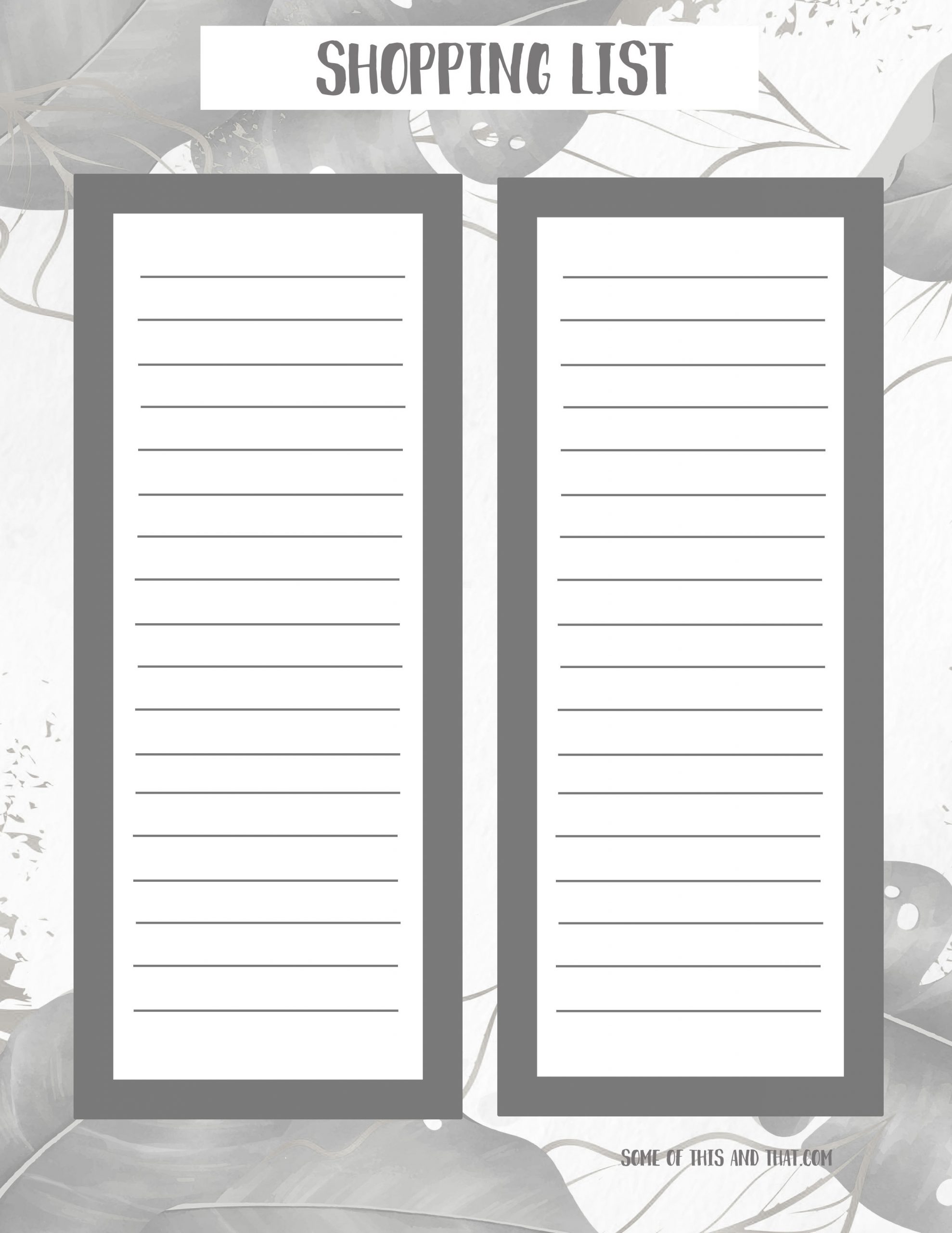 free monthly organizer printable