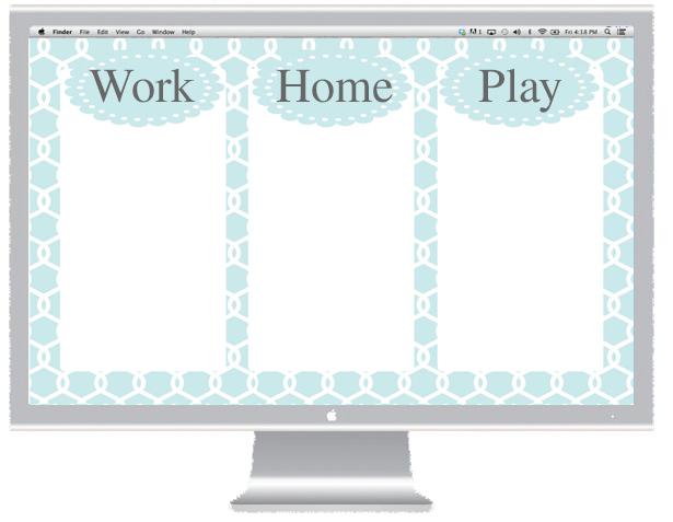 Blue Desktop Organizer