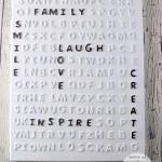 DIY Word Search Art
