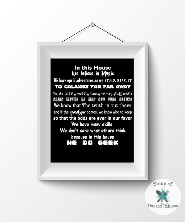 Free Nerdy Printables! In Our Home Printables!