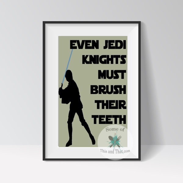 Star Wars Bathroom Printable