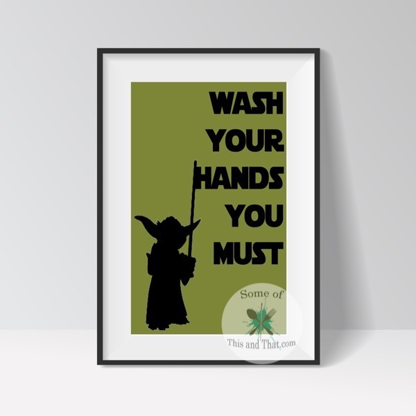 Yoda Bathroom Printable Star Wars Bathroom Printable