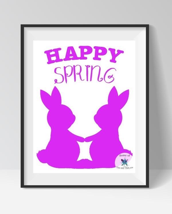 Free Spring Printables! Happy Spring Free Printable!