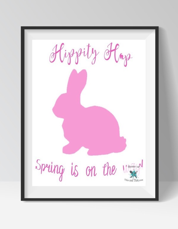 Free Spring Printables! Hippity Hop Spring is on the way Free Printable!