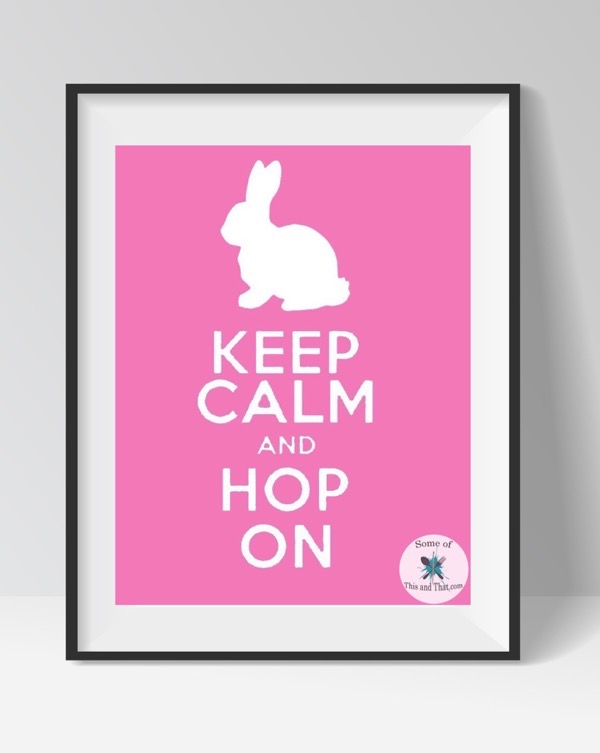 Free Spring Printable! Happy Keep Calm Printable!