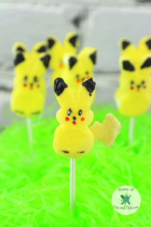 DIY Peep A Chu! A fun and easy DIY Pikachu project!