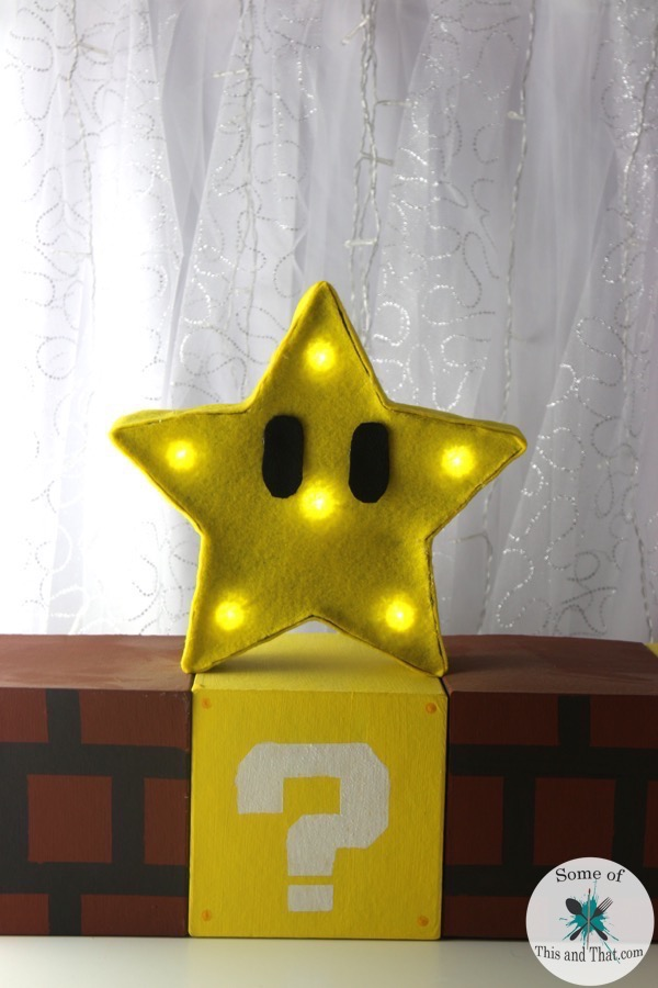 DIY Mario Bros Star Lamp! | Nerdy Crafts!