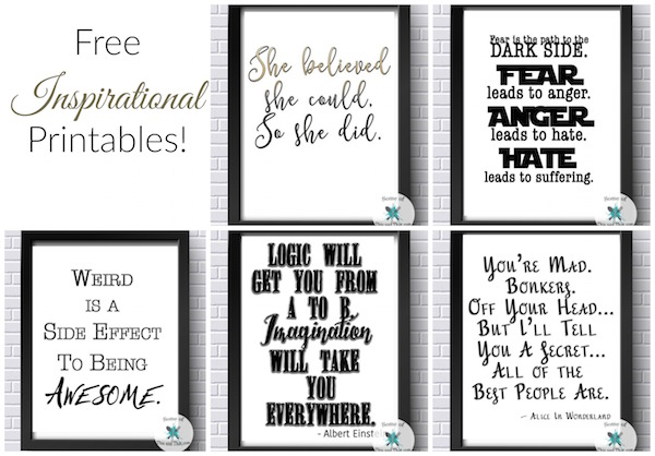 Free Inspirational Printables! Free Office Printables!