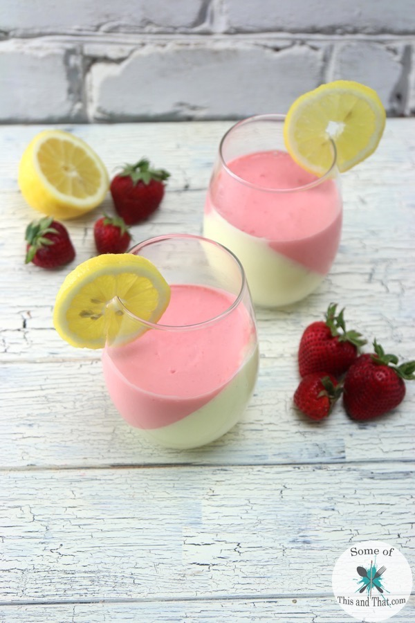 Strawberry Lemonade Mousse! Is the perfect no bake dessert for summer!