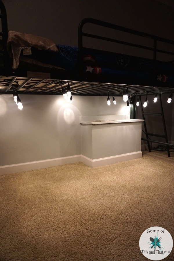 DIY Lighted Reading Nook!