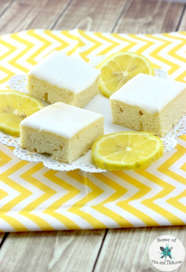 This Lemon Blondies Recipe is the perfect quick and easy dessert for the summer!