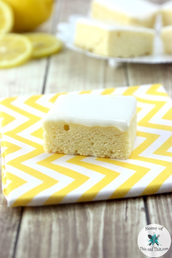 Lemon Blondies Recipe!
