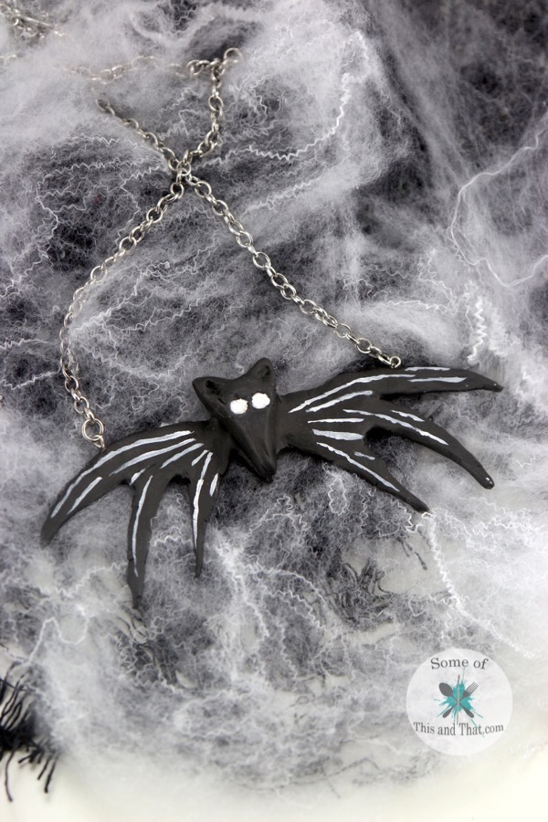 DIY Jack Skellington Necklace from the Nightmare Before Christmas!