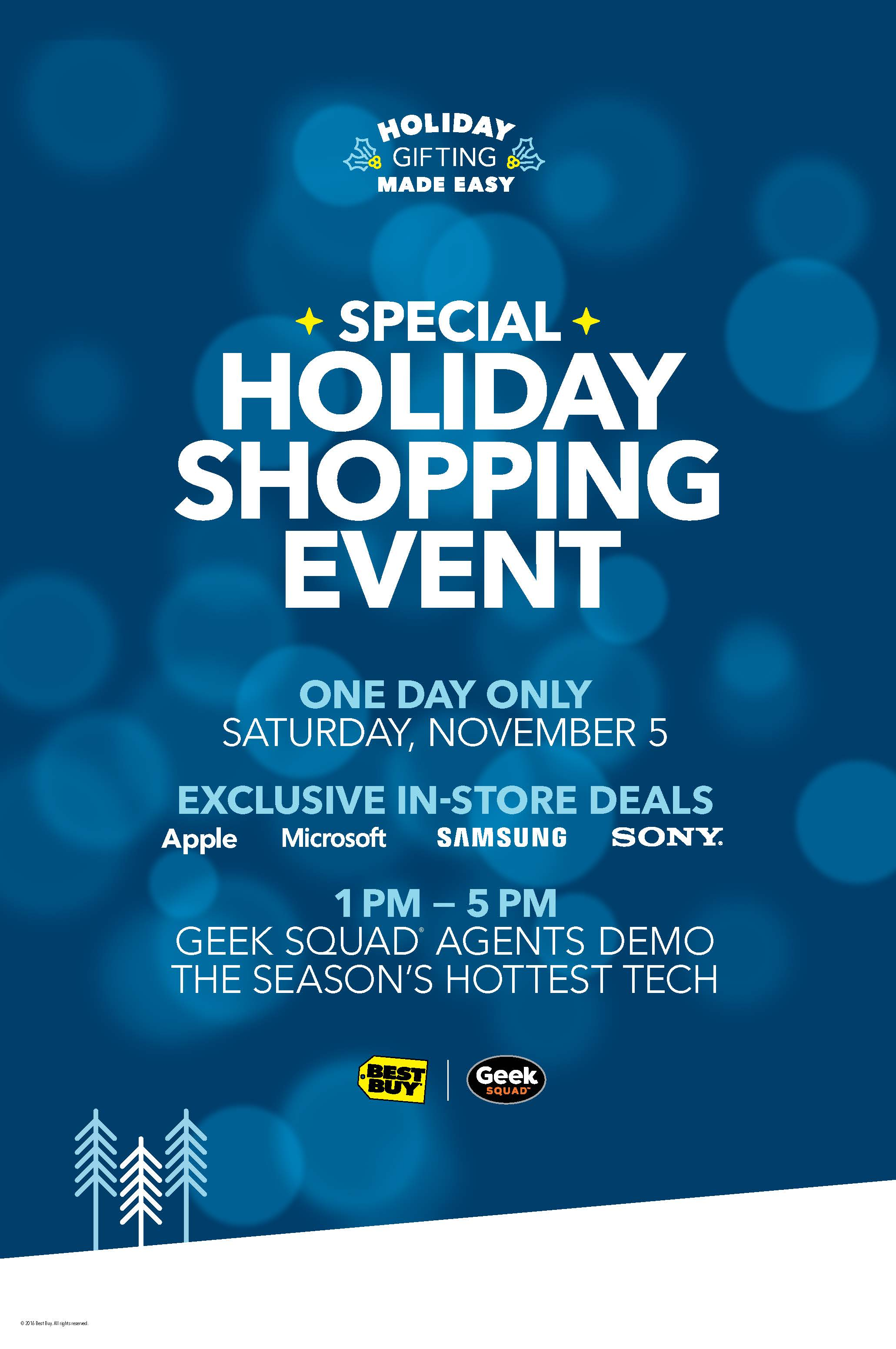 Best Buy Holiday Shopping Event!