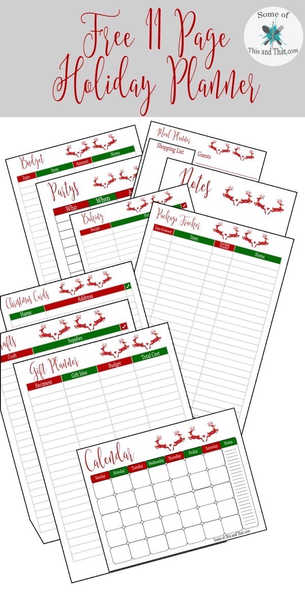 Free Holiday Planner Printable!