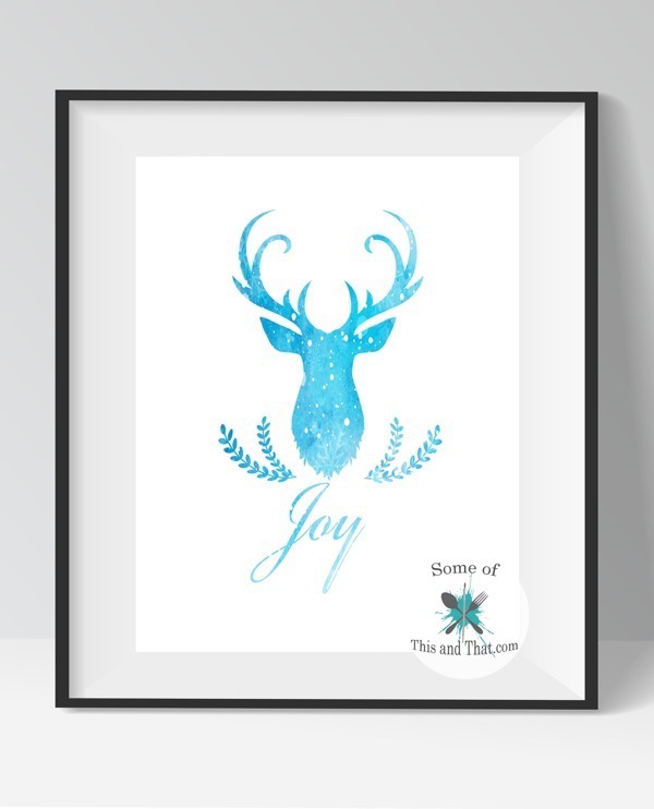 Free Deer Head Printables!