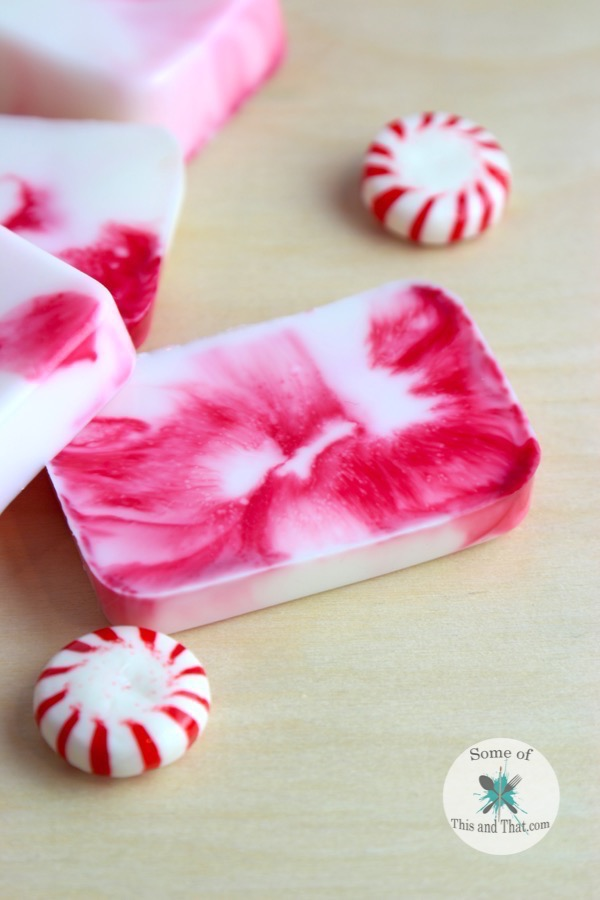 DIY Peppermint Soap! Such a fun and easy DIY Gift!
