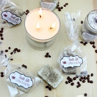 DIY Vanilla Latte Candles with free printable labels!