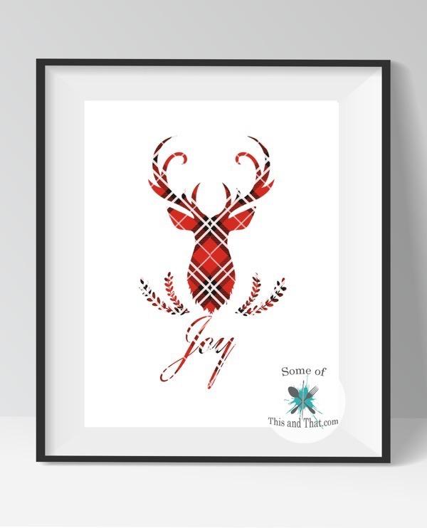 Free Deer Head Printables!