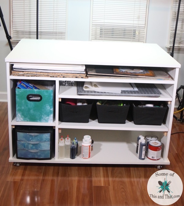 Learn how to build a custom DIY Craft Desk that fits your needs!