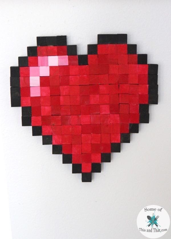 DIY 8-bit Heart! Nerdy Crafts for Valentines Day!